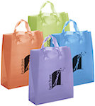 Iris Frosted Bright Shopping Bags